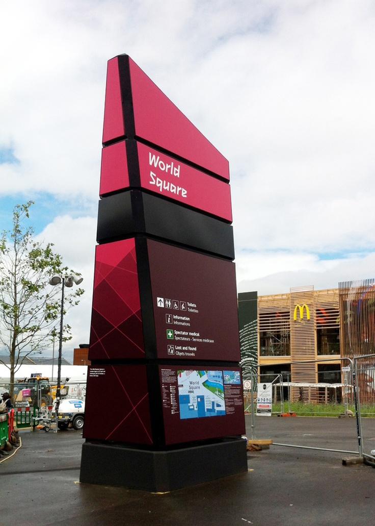 202 best landscape sign images on pinterest wayfinding for Exterior signage design