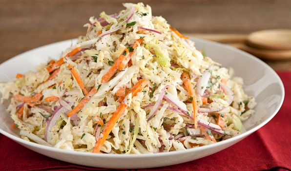 Creamy Cabbage Coleslaw - In the Kitchen with Stefano Faita