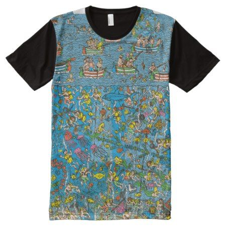 Where's Waldo Deep Sea Divers All-Over-Print Shirt - click/tap to personalize and buy