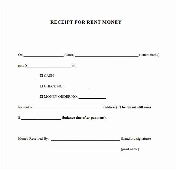 Rent Paid Receipt Template Luxury 30 Money Receipt Templates Doc Pdf Receipt Template Book Review Template Templates