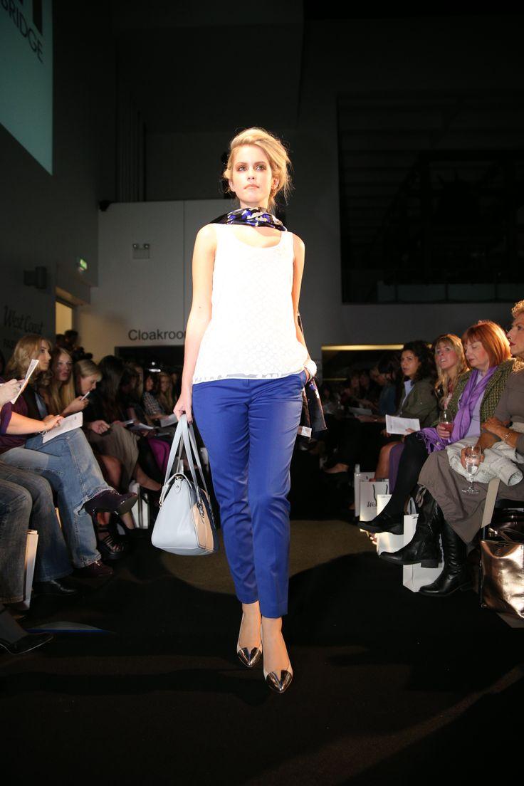 Armani Exchange cream silk blouse Was £78 Now £39, L.K. Bennett scarf Was £125 Now £70, Armani Exchange trousers Was £88 Now £44, DKNY Jeans bag Was £145 Now £72.50, Armani Exchange cuff Was £42 Now £21.
