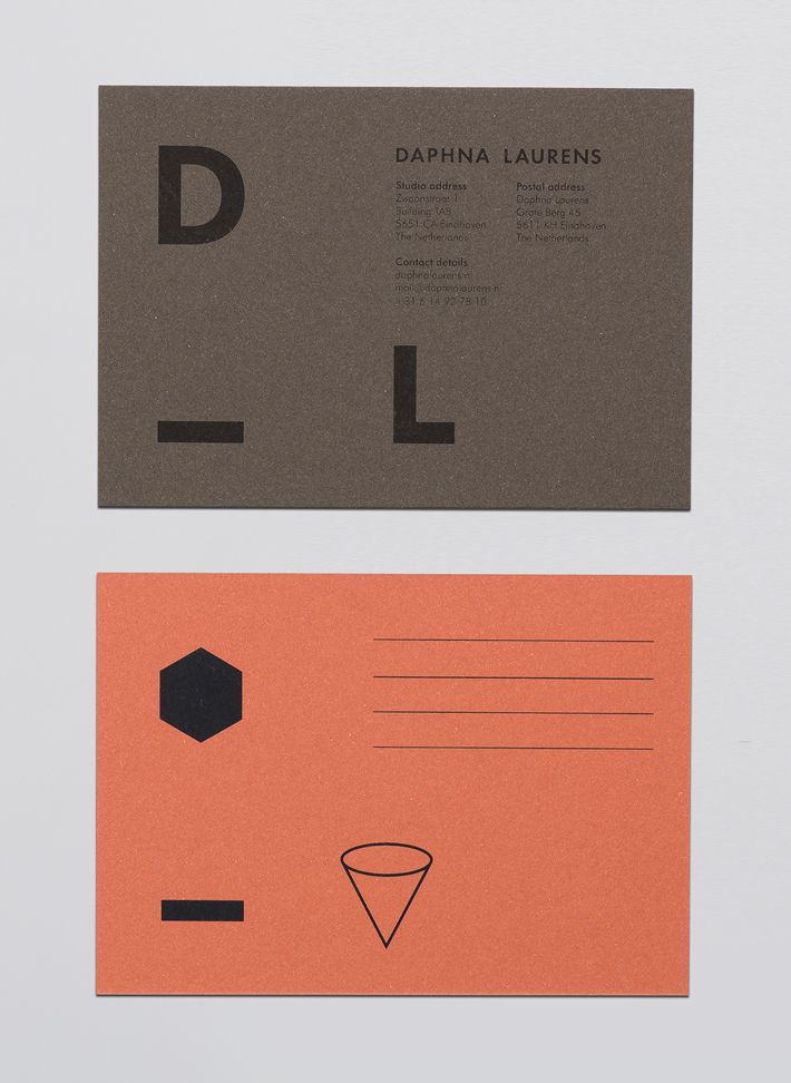 Picture of 10 designed by George&Harrison for the project Daphna Laurens. Published on the Visual Journal in date 9 March 2015
