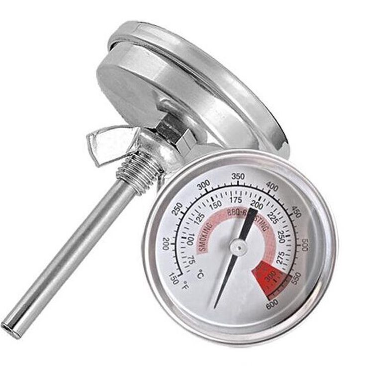 [Visit to Buy] Industrial Bimetal Thermometer for Smoker Grill Boiler Back Connection #Advertisement