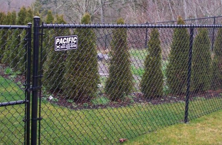 72 Best Chain Link Fence Images On Pinterest Black Chain