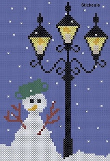 Freebie...Narnia-like lamps  and snowman. :-)
