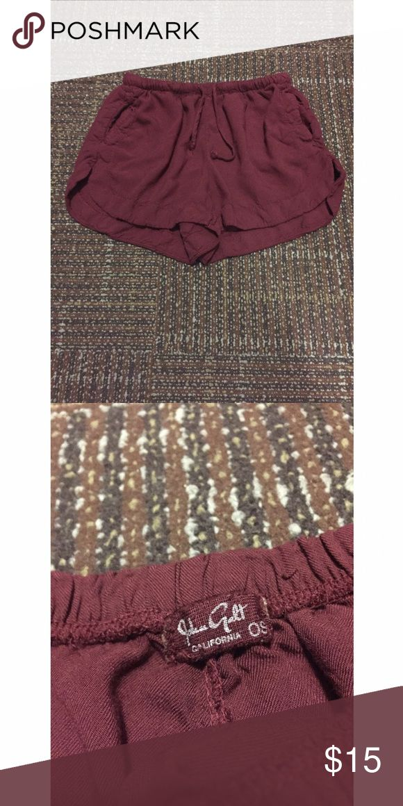 Brandy Melville Maroon Shorts Cute Maroon shorts that are flowy and soft! Worn only once and is still in good condition!! These have pockets too!! Brandy Melville Shorts