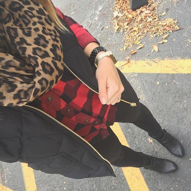 Buffalo plaid & leopard  #ftw #ootd #afstyle