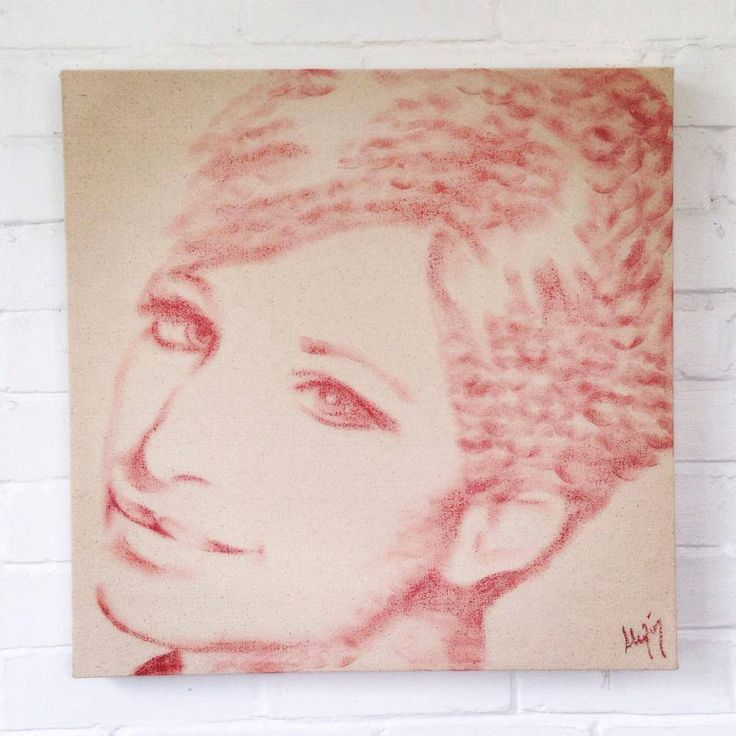 Lipstick Lex (aka Toronto artist Alexis Fraser) puts on lipstick and kisses her canvasses to create cool portraits. Once they're close, she'll refine things a bit by drawing with the li…