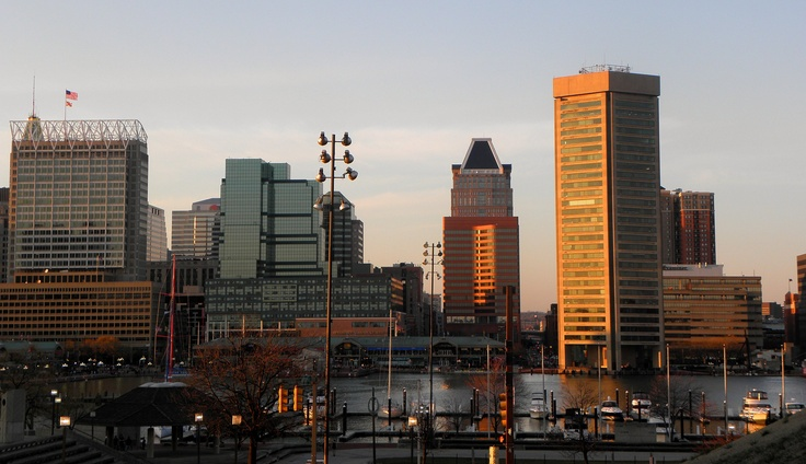 Baltimore, as seen from Federal Hill