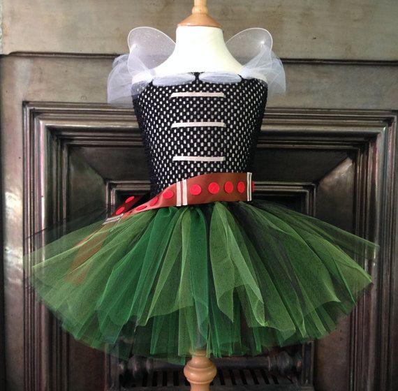 Handmade Pirate Fairy Zarina inspired tutu dress, Tinkerbell, Fancy Dress, Princess, Party, wings, dress up