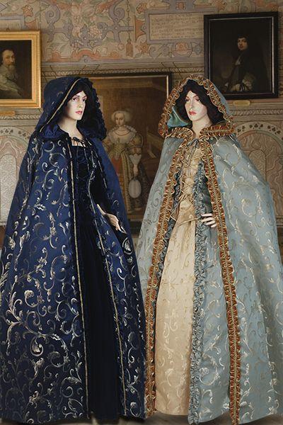 Renaissance Long Cape/Cloak No. 19 - 127.00USD - Medieval and Renaissance Clothing, Handmade by Your Dressmaker