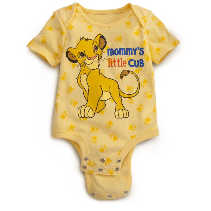 Little Cub LION KING Disney Cuddly Bodysuit