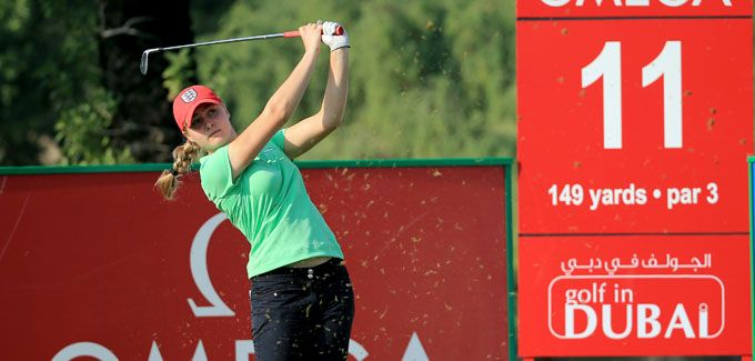 Talented youngster Charley Hull upbeat ahead of 2014 Omega Dubai Ladies Masters return #dubai #golf #uae
