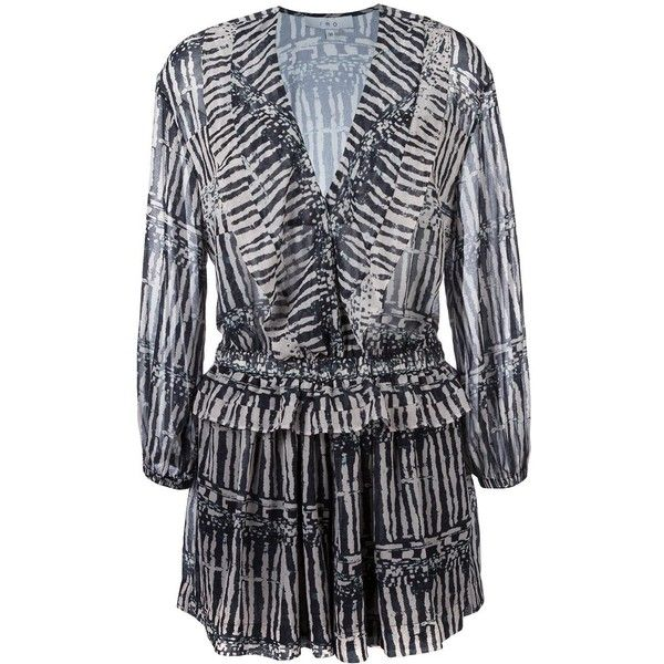 Iro striped ruffled playsuit (3.005 DKK) ❤ liked on Polyvore featuring jumpsuits, rompers, black, striped romper, patterned romper, ruffle rompers, ruffle romper and striped rompers