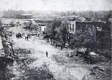 1908 Tornado Looking east from North Broad Street Albertville Alabama