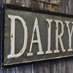 Dairy Tin Sign