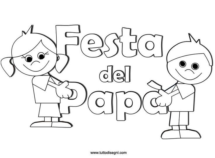 Scritta Festa del Papà con disegni - TuttoDisegni.com