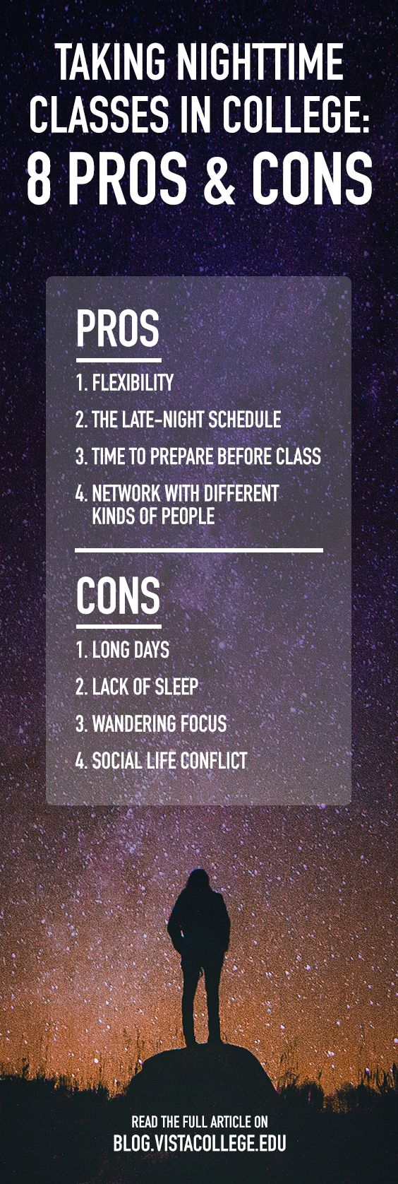 Taking Nighttime Classes in College: 8 Pros and Cons