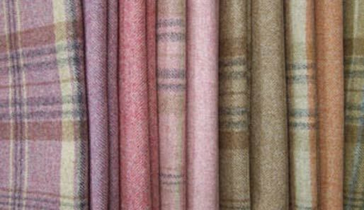 Moon Fabrics - Heather Wools collection tartan curtains