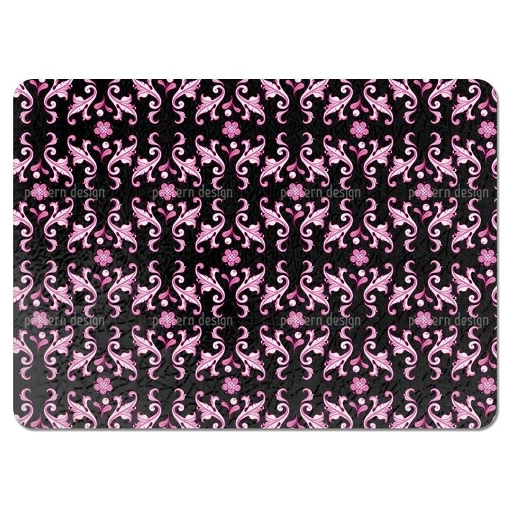 Uneekee Baroquo Folk Pink Placemats (Set of 4) (Baroquo Folk Pink Placemat) (Polyester)
