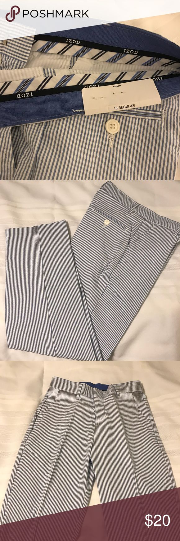 Boys size 10 seersucker pants NWT Boys Izod seersucker pants. Never worn. Izod Bottoms Casual