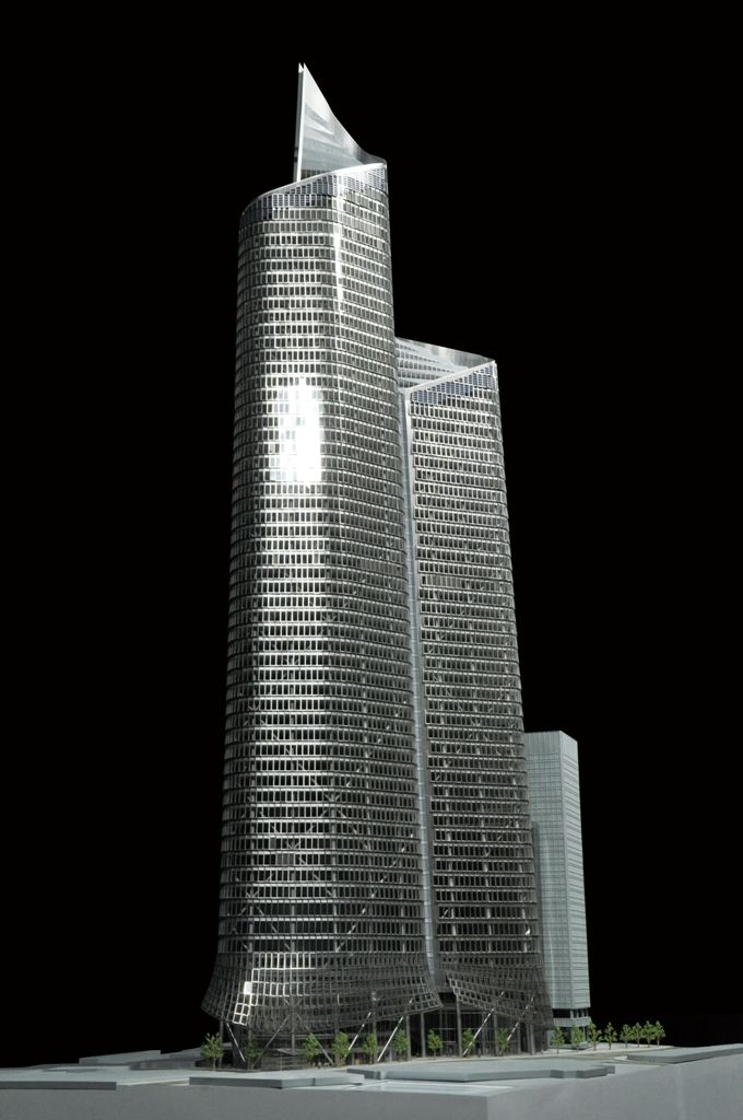 The Pinnacle Tower, London  for KPF Scale 1:150