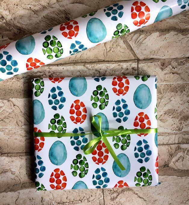 Hübsches österliches Geschenkpapier zum Verpacken und Basteln! Das Motiv wurde…