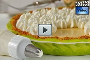 Key Lime Pie has a sweet and grainy graham cracker crust, a creamy and tangy lime flavored filling, and is topped with a soft and fluffy whipped cream. From Joyofbaking.com With Demo Video