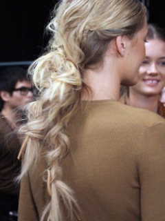 for the runway: Braids Hairstyles, Messy Ponytail, Runway Hair, Messy Hair, Michael Kors, Messy Braids, Fishtail Braids, Hair Style, Hair Trends