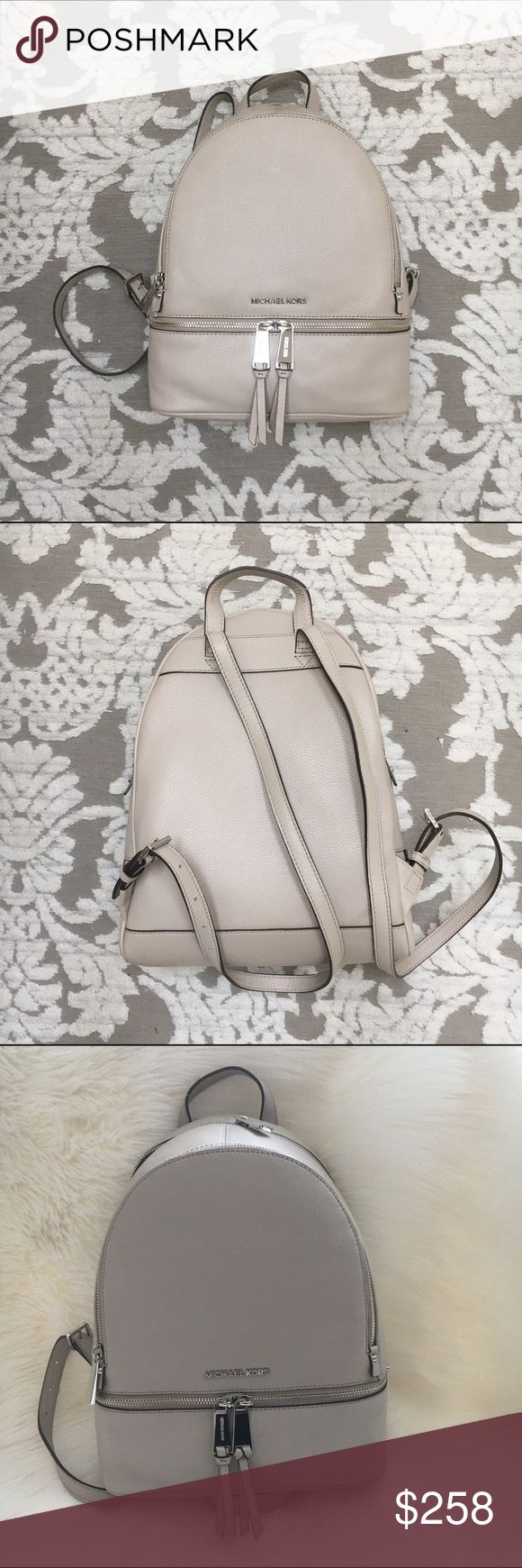 MICHAEL KORS satchel Vanilla leather backpack purse with silver tone hard ware by Michael Kors New! Authentic 🚫trades MICHAEL Michael Kors Bags Backpacks