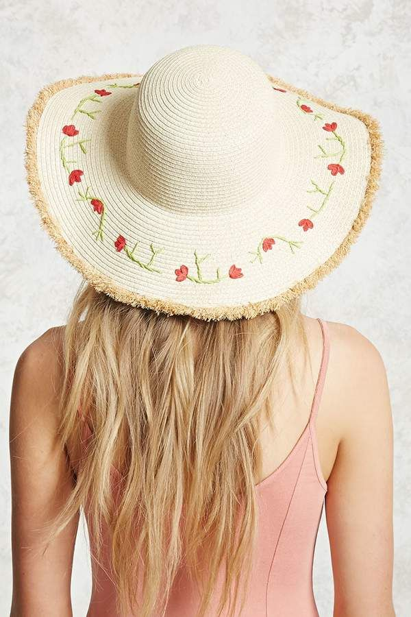 a1fc1580 Forever 21 Floral Wide-Brim Straw Hat | the accessorizer. in 2019 ...