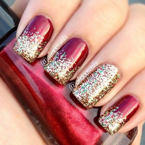 Best 25+ Simple christmas nails ideas on Pinterest ...
