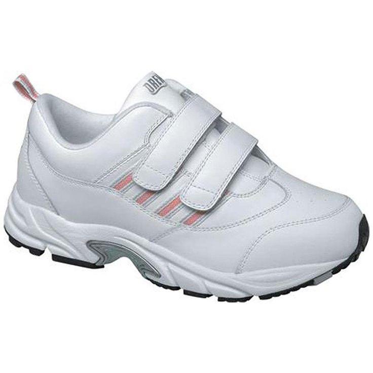 $150 Drew Shoes Womems BLITZ Athletic Walking 12 W Wide Diabetic Orthotic White #Drew #Comfort