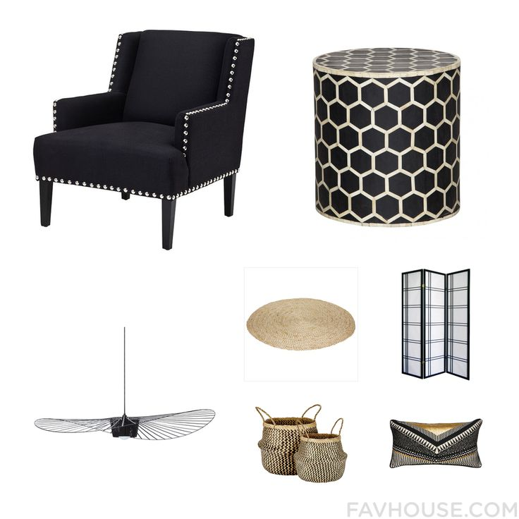 Interior Products With Eichholtz Accent Chair Ebony Table Petite Friture Ceiling Light And Asian Area Rug From January 2016 #home #decor