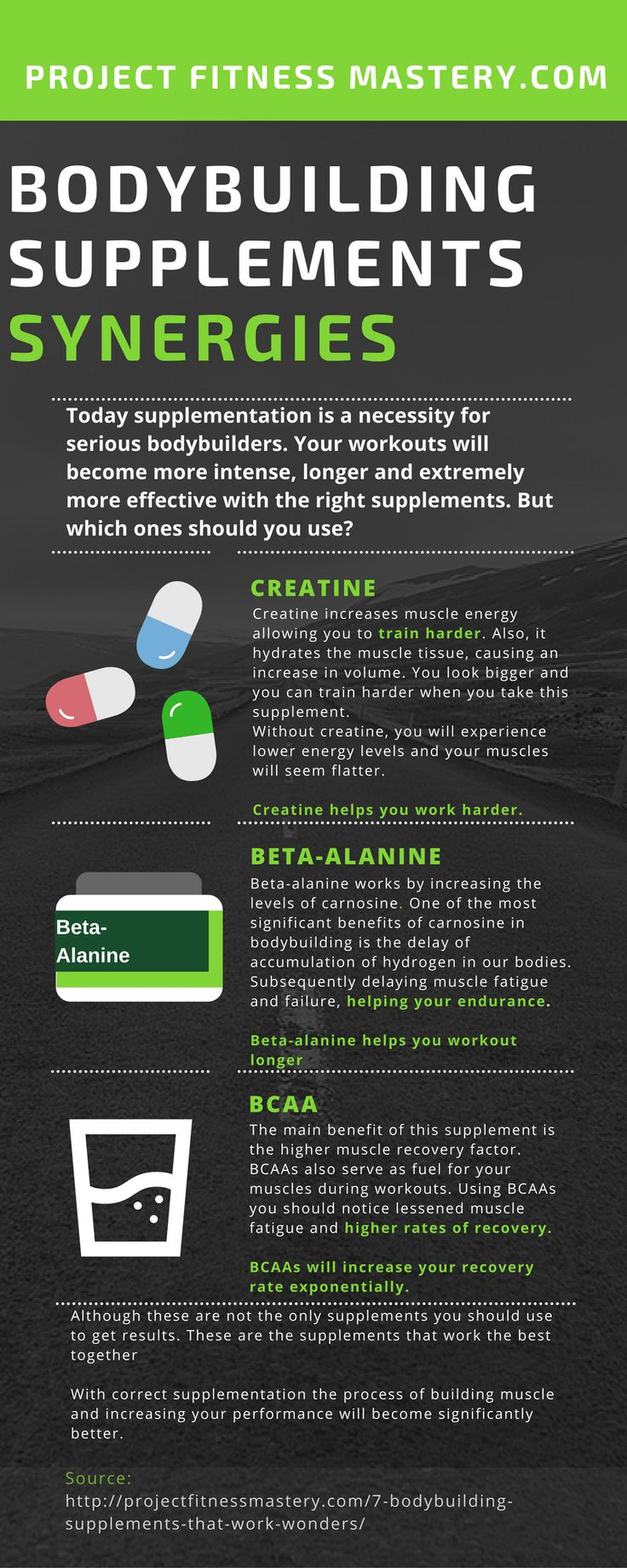 Discover the best synergies in the bodybuilding supplement world with this bodybuilding infographic. Share, like and follow!