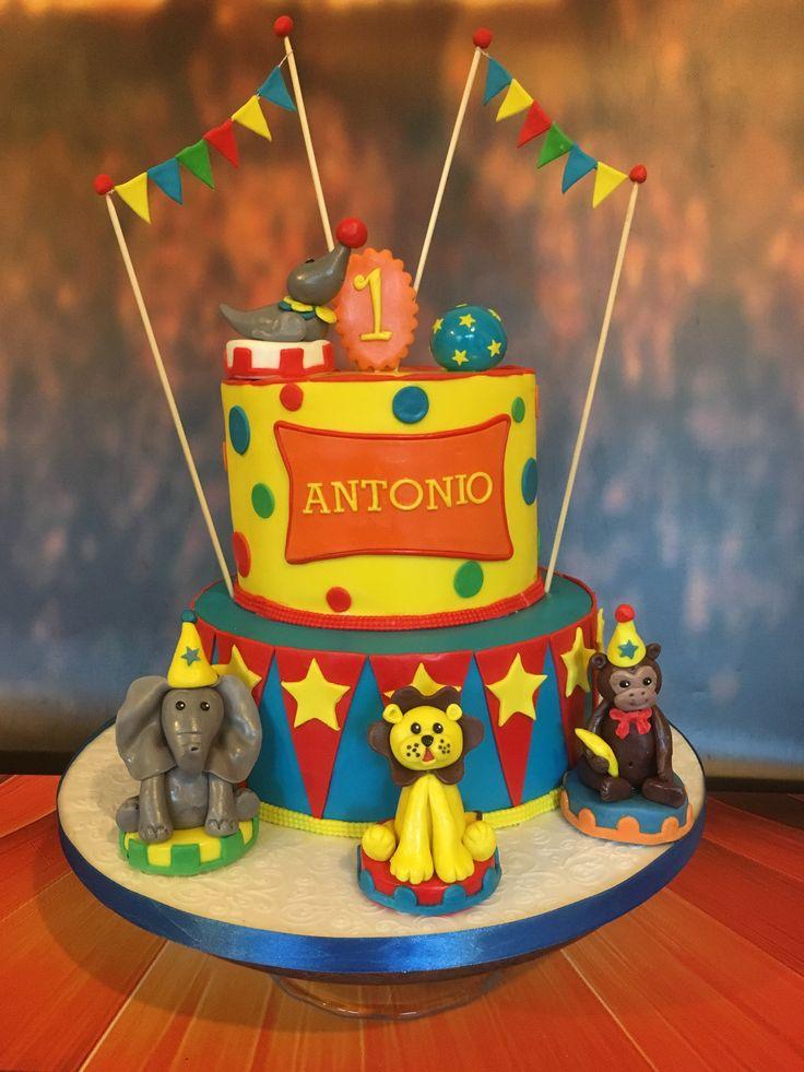 Circus Cake, first birthday cake