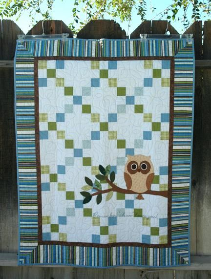 Owl Baby Quilt Kit Baby Owl Quilt Etsy Owl Baby Quilt Panel Quilt In A Day Mr Owl Baby Quiltcould Be Changed