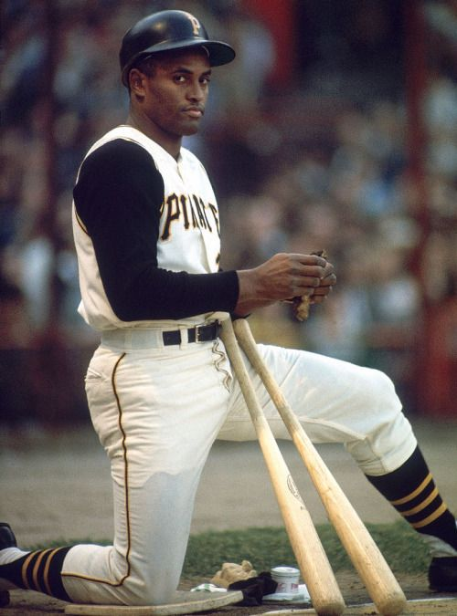 Roberto Clemente waits on deck during a Piratesgame against the Chicago Cubs on May 23, 1967 at Forbes Field in Pittsburgh. A 12-time All-Star who also won 12 Gold Gloves, two World Series titles, four batting titles and the 1966 NL MVP award, Clemente was born 81 years ago today.(Walter Iooss Jr. for SI) GALLERY: Classic SI Photos of Roberto Clemente   Roberto Clemente