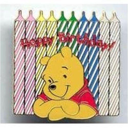 OLD RARE Disney pin DLR Disneyland Happy Birthday Candles Winnie the Pooh