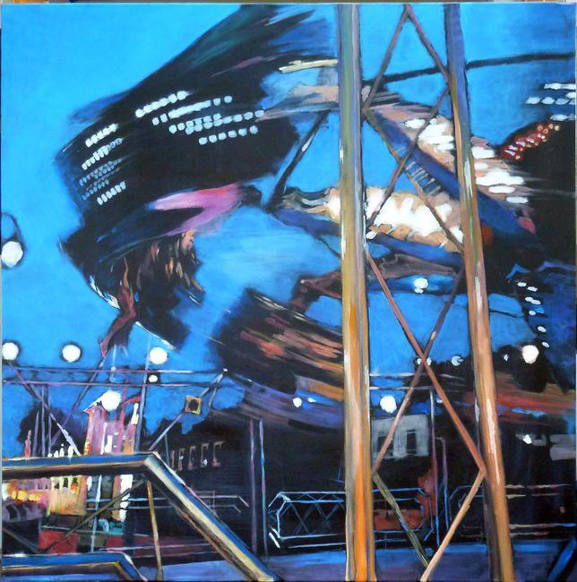 Fair, Old town Stevenage by Pat Le Mare £130