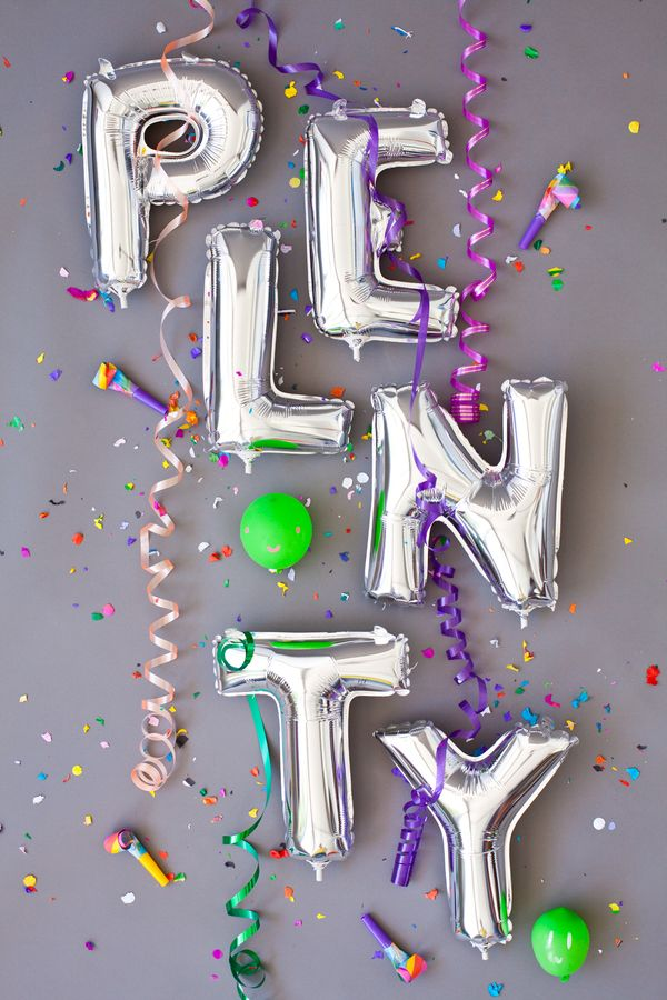 Plenty: Mylar Balloon, Happy Birthday, Happy New Years, Paper Streamers, Wedding Photos, Parties Ideas, Balloon Letters, Balloons, Letters Photography
