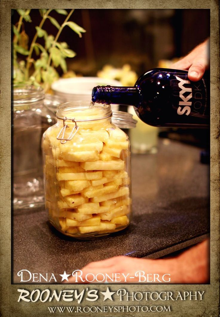 Get a pineapple, an air-tight jar and some vodka, then soak for 10 days in a cool place. Then strain into a pitcher and serve chilled.The results are sweet goodness!!