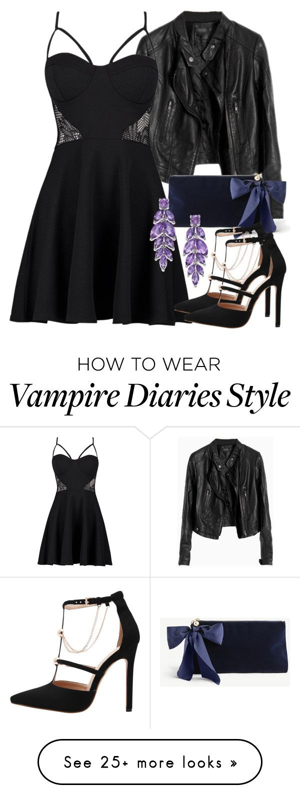 """""""Elena Inspired New Years Eve / Party Outfit - The Vampire Diaries / The Originals"""" by fangsandfashion on Polyvore featuring Boohoo and Ann Taylor"""