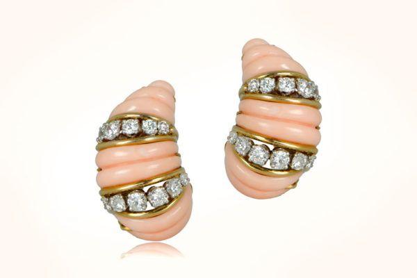 Cartier Coral Earrings. Circa 1960.