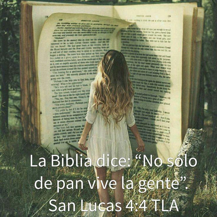 Lucas 4:4 La.Biblia.dice: No solo de pan vive la gente.