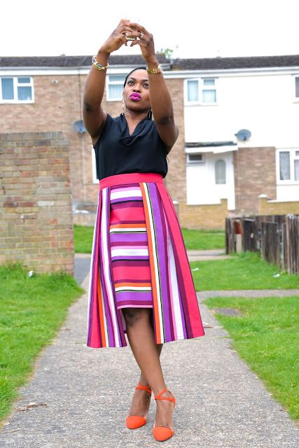 The Striped Multi-coloured Skirt