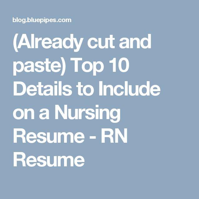 25+ ide terbaik Rn resume di Pinterest - resume for rn
