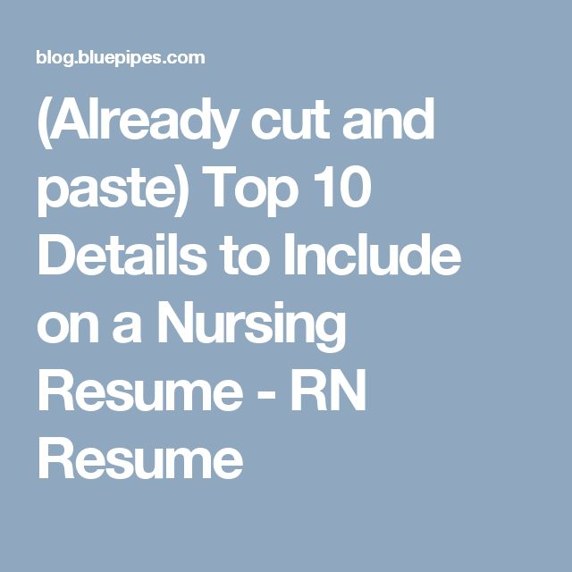 10 Best Nursing Resume Templates: Best 25+ Rn Resume Ideas On Pinterest