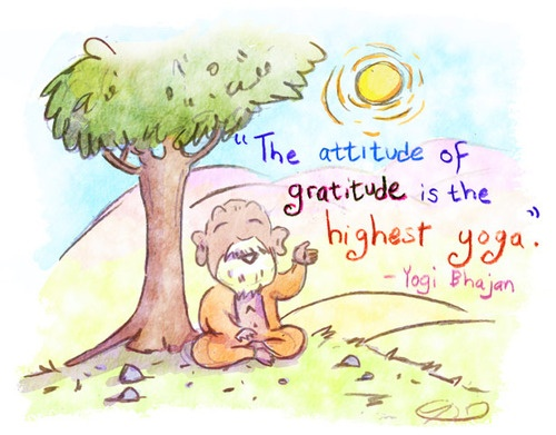 Buddha Doodle - 'Attitude of Gratitude'byMollycules♥ share the BuDoodle love! ♥