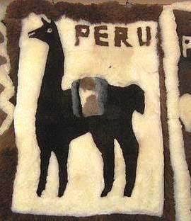 Weiß, brauner #Alpaka #Motivteppich, #Peru